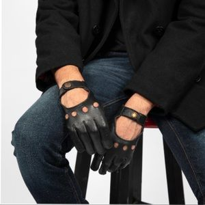 Straight To Hell Leather Driving Gloves